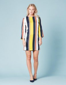 Boden Colour Block Stripe Tunic  Dress