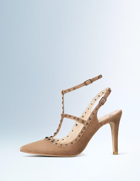 Boden Ashley Heel Chanel Inspired Modern Vintage Chic with Rockstud dupes Kitty and B