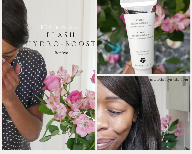 REN Skincare Flash Hydro-Boost Review - Kitty and B